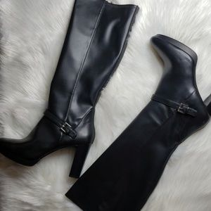 Nine West Black Platform Boots (NWOT)
